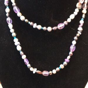 Honora pearl and gemstone necklace